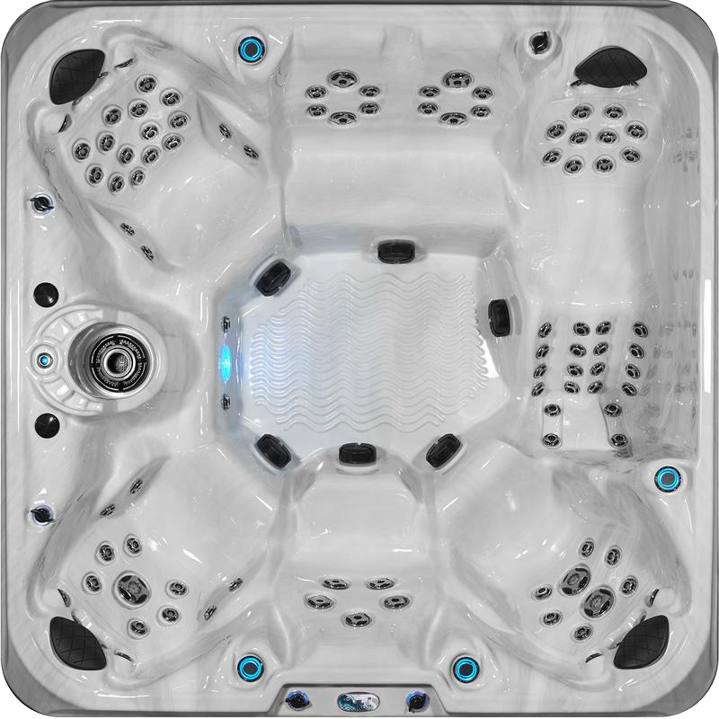 Calypso Hot Tub Top View 100 jets